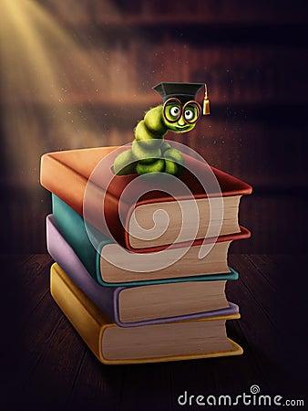 Bookworm With Glasses Stock Illustration Image 71333451 Math Wallpaper Golden Find Free HD for Desktop [pastnedes.tk]