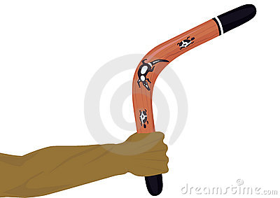 Boomerang in a arm