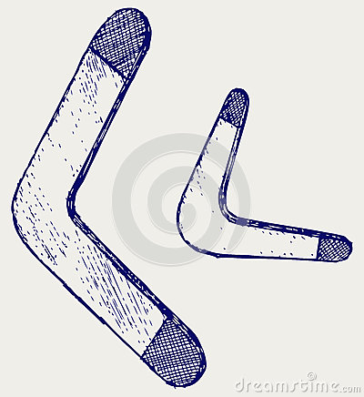 Boomerang. Doodle style