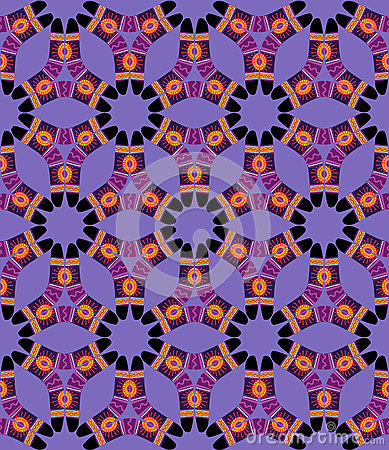Boomerang Seamless Pattern on violet background