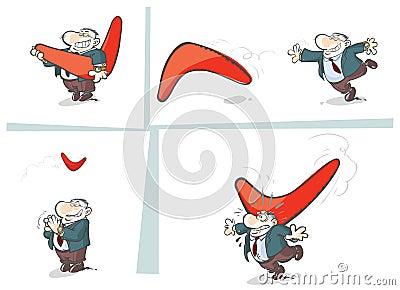 Boomerang story.