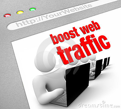 Free Boost Web Traffic - Internet Screen Shot Stock Images - 18647844