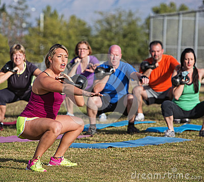 Boot Camp Fitness Trainer Yelling