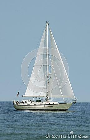 Boot op water - verticaal