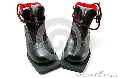 Boot for running skis
