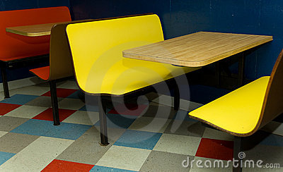 Booth at diner