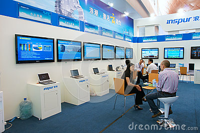 Booth of Inspur company Editorial Image