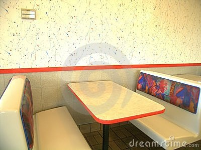 Booth, Restaurant, Fast Food