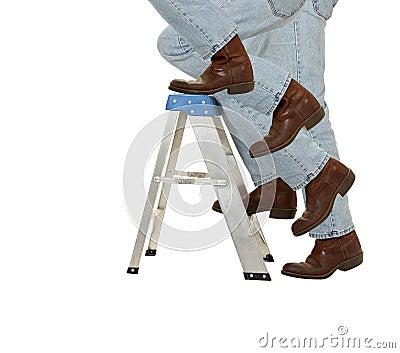 Boots Climb a Ladder