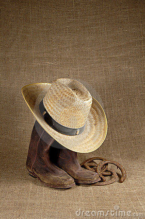 Free Boots, Hat And Horseshoes 1 Stock Image - 383681