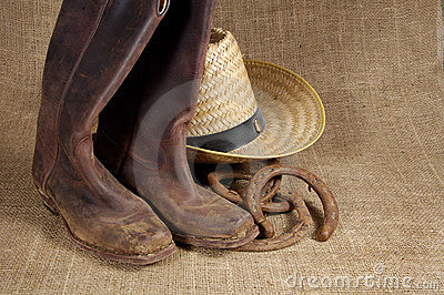 Boots, hat and Horseshoes 2