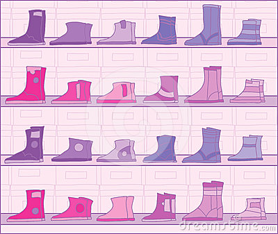 Boots on racks.