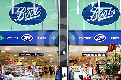 Boots shop in a mall Editorial Stock Photo