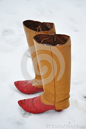 Boots in snow