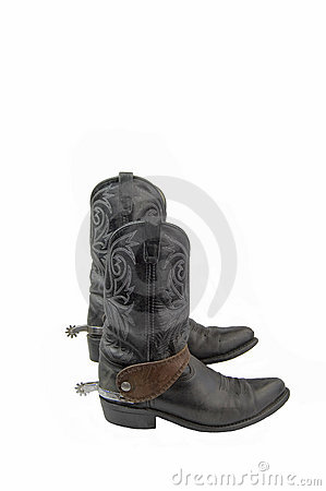 Boots with spurs