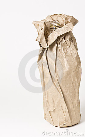 Free Booze Bottle In Brown Paper Bag Royalty Free Stock Photography - 22686847