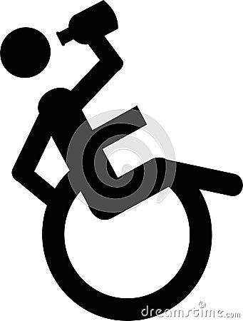 Boozing Wheelchair user