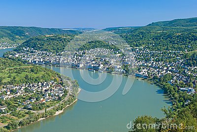Boppard,Rhine River,Germany