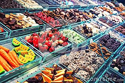 Boqueria Market in Barcelona.