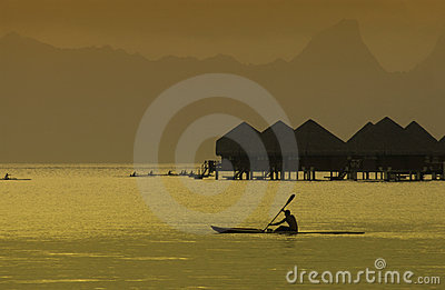 Bora Bora in the South Pacific Editorial Stock Image