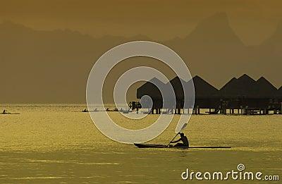 Bora Bora in the South Pacific Editorial Stock Image