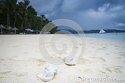 Boracay white beach flip flops philippines