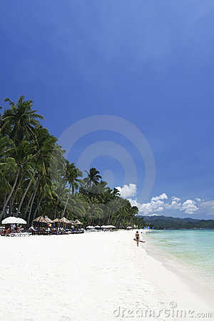 Boracay island blue sky white beach philippines