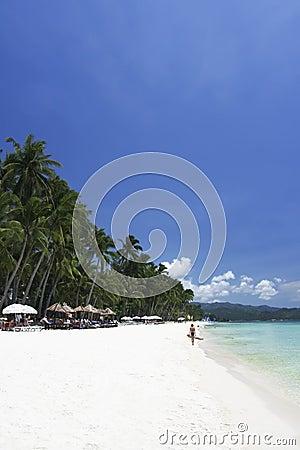 Boracay island blue sky white beach philippines
