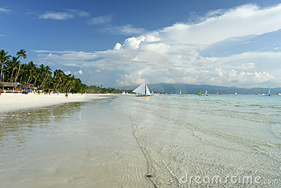 Boracay island white beach paraw philippines