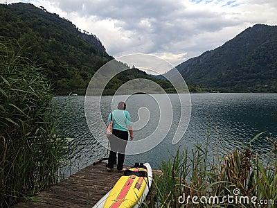 Boracko lake in Konjic, Bosnia and Herzegovina Editorial Image