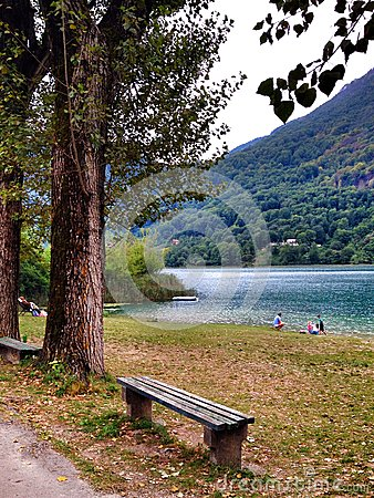 Boracko lake in Konjic, Bosnia and Herzegovina Editorial Photography