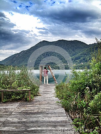 Boracko lake in Konjic, Bosnia and Herzegovina Editorial Stock Image