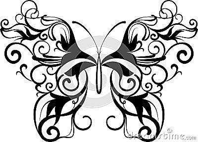 Borboleta decorativa