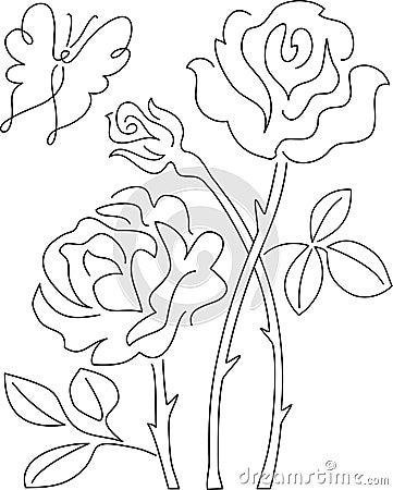 Borboleta e Rosa Abstract/ai