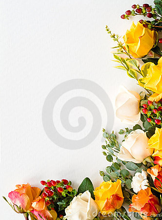 Border arrangment of roses