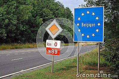 Border of Belgium