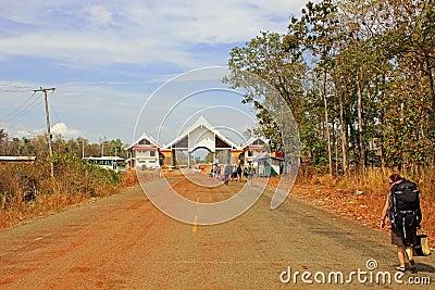 Border Cambodia - Laos Editorial Image