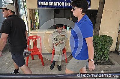 Border Crossing Editorial Stock Photo