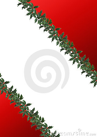Border decorated with holly leaves
