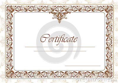 Border diploma or certificate template