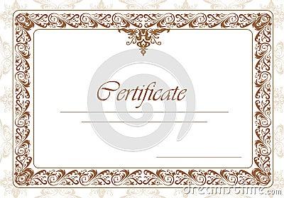 Border diploma or certificate template