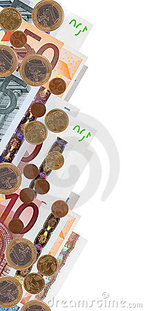 Border from euro banknotes