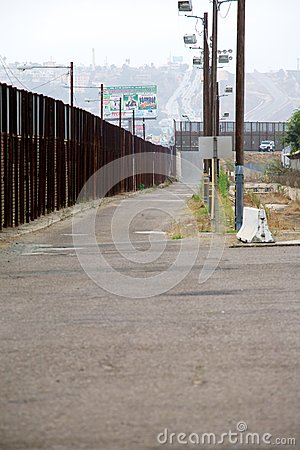 Border fence Editorial Image