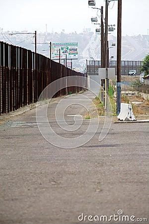 Border fence Editorial Image