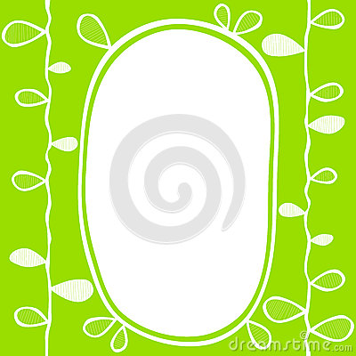 Leaves border frame