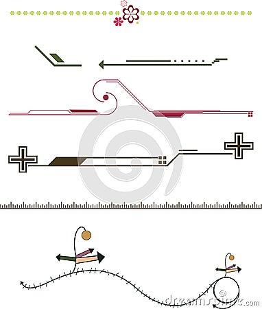 Border frame design elements