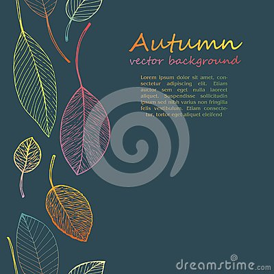 Free Border Frame Of Colorful Autumn Leaves Royalty Free Stock Images - 43206359
