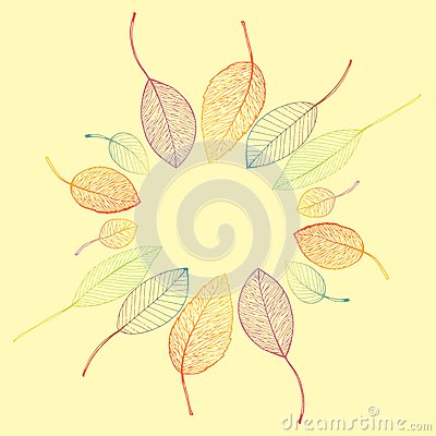 Free Border Frame Of Colorful Autumn Leaves Stock Image - 43262071