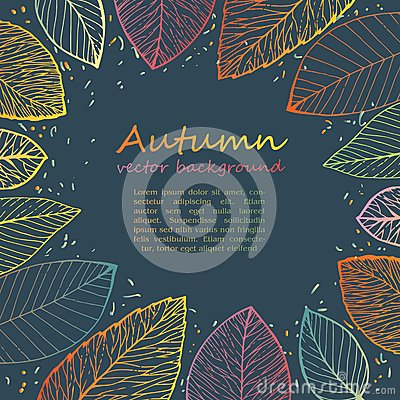 Free Border Frame Of Colorful Autumn Leaves Stock Images - 43385334