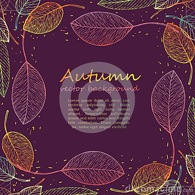Free Border Frame Of Colorful Autumn Leaves Stock Photography - 43514132